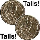 2 (Two) Tailed Quarter, You will Always Win with Tails (1586)