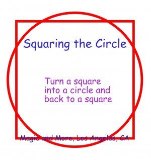 Squaring the Circle, Metal, Magical & Funny Gag Effect (1523)