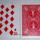 14 of Diamonds, Bicycle Red Back, Gag Card (2044)