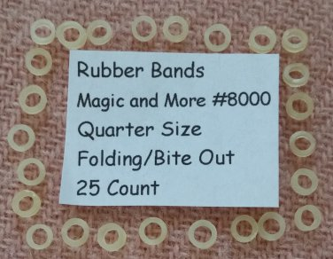 Rubber Bands for Bite Out and Folding Quarters, Lot of 25 (8000)