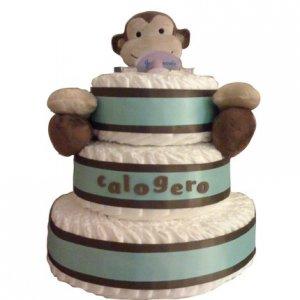 Modern Monkey Diaper Cake
