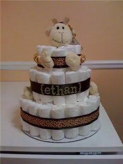 Personalized JoJo Giraffe Diaper Cake