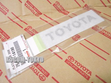 1xGENUINE JDM 1993-2002 SUPRA JZA80 REAR RAISED TOYOTA DECAL OEM PART
