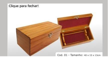 """Hardwood box Cod 01. 15.75x5.91x5.12"""" (40x15x13cm)"""