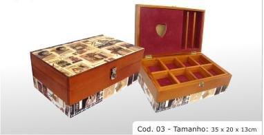 """hardwood box cod 03 13.73x7.87x5.12"""" (35x20x13)"""