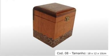 """hardwood box cod 08 8x4.7x3.9"""" (18x12x10cm)"""