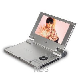 """Toshiba SD-KP19 - Divx Portable 8"""" Inch DVD Player with 4-in-1 Memory Card Reader"""