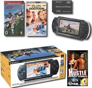 "Sony PlayStation Portable ""Entertainment Pack"" With 1GB Memory Card, 2 Hot Games + UMD Movie"
