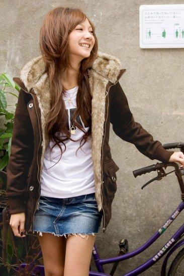 8087 # Korean Fashion coat  wholesale- brown