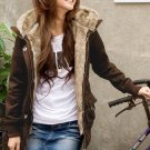 8087 # Korean Fashion coat  wholesale- brown