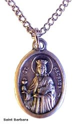 St. Barbara Medal Necklaces