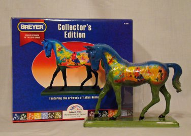 Breyer model horse  #9105 World Equestrian Games LeRoy Neiman Horse, traditional scale, new in box