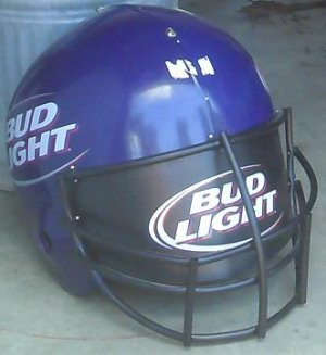 Bud Light Oversized Football Helmet