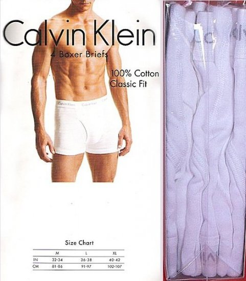 CK CALVIN KLEIN MEN'S Boxer BRIEFS, Men's Cotton CK Boxers/Underwear size Large 36-38 EU 91-97