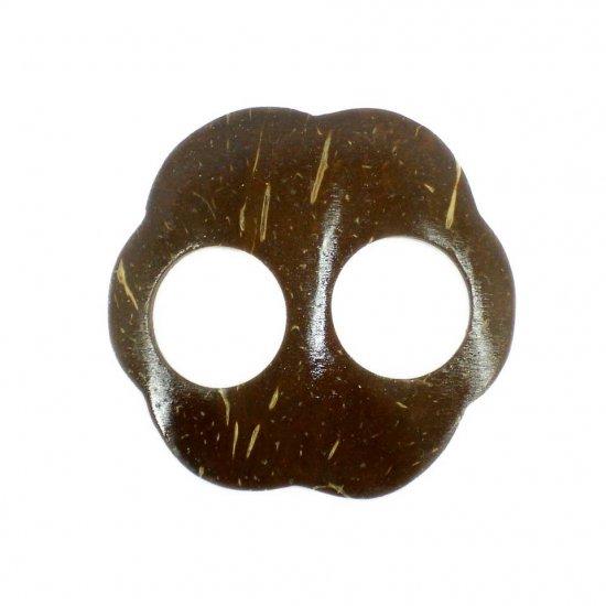 Hand Made Coconut Shell Buckle For Sarong Pareo Scarf (PB91)