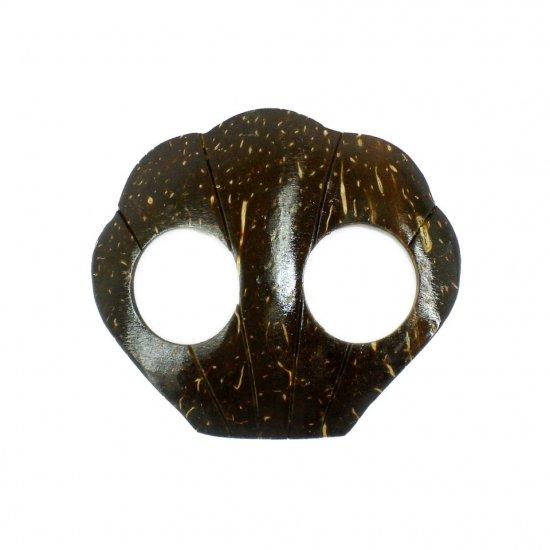 Hand Made Coconut Shell Buckle For Sarong Pareo Scarf (PB105)