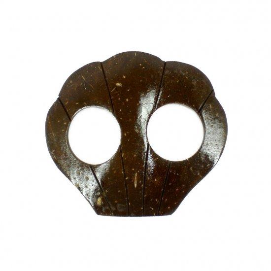 Hand Made Coconut Shell Buckle For Sarong Pareo Scarf (PB110)