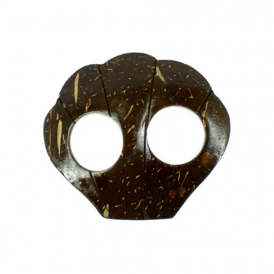 Hand Made Coconut Shell Buckle For Sarong Pareo Scarf (PB111)