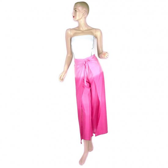 Hippie Pink Tie-Dye Wrap Pants Beach Cover-Up OSFA (MC167)