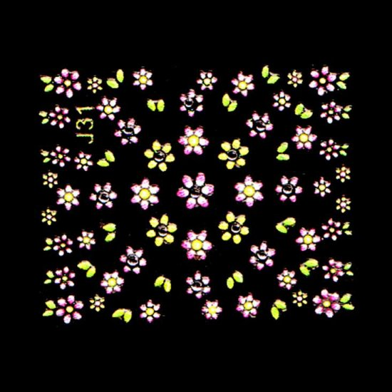 3D Nail Art Decoration Sticker Decal Manicure Floral (NA115)