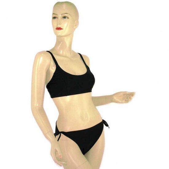 2-Piece Black Bandeau-Top Bikini Swimwear XL (PS41)