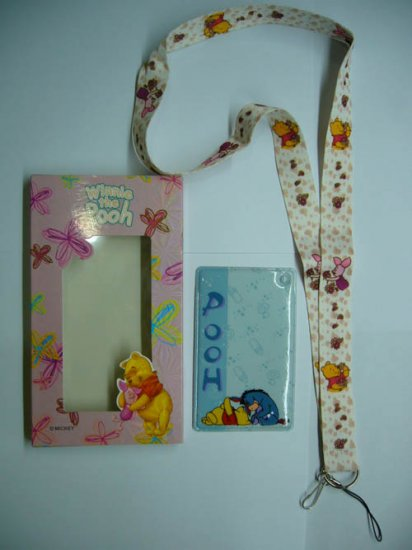 NEW Disney Pooh Lanyard Neck Straps with Card Holder
