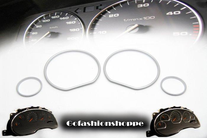 VW GOLF III SILVER CLUSTER DASHBOARD GAUGE RINGS - DRA9