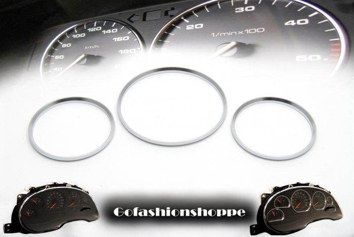 94 95 MERCEDES BENZ W202 SILVER DASHBOARD GAUGE RING - DRB4