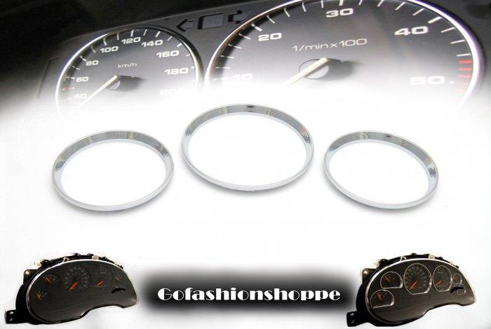 HONDA CIVIC 96 97 98 99 CHROME DASHBOARD GAUGE RINGS - DRC4