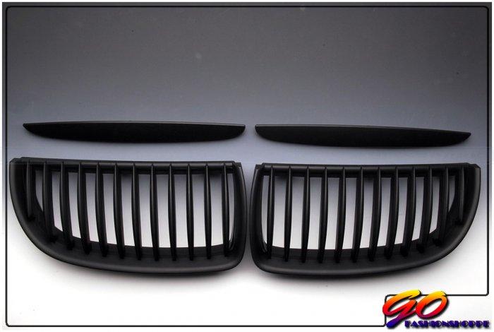 06-08 BMW E90 325 328 330 Matte Black Front Grille-GRH1