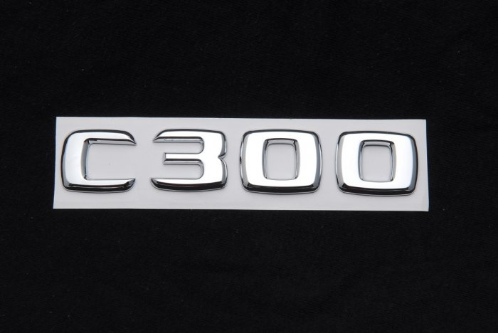 Mercedes benz trunk rear emblem badge letters c300 for Mercedes benz trunk emblem
