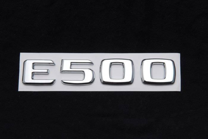 Mercedes benz trunk rear emblem badge letters e500 for Mercedes benz trunk emblem