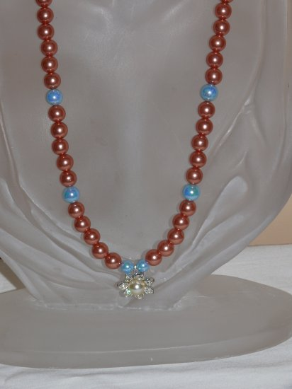 ***SALE WAS $25 NOW $20 WITH FREE SHIPPING***  Faux Pearl Flower Necklace