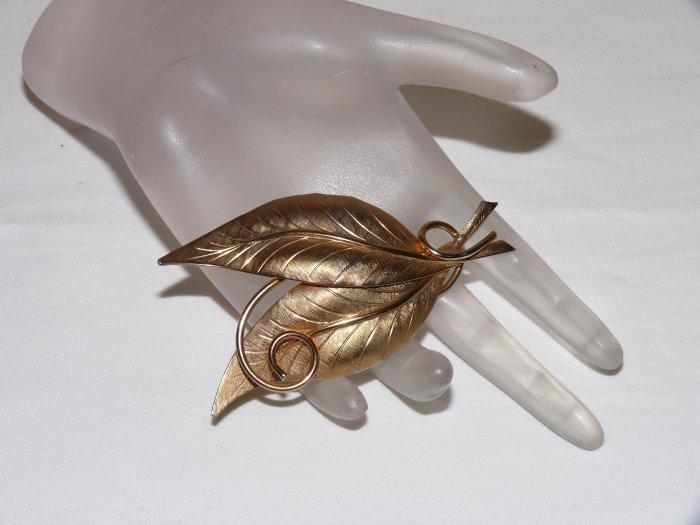 Gold Leaf Brooch