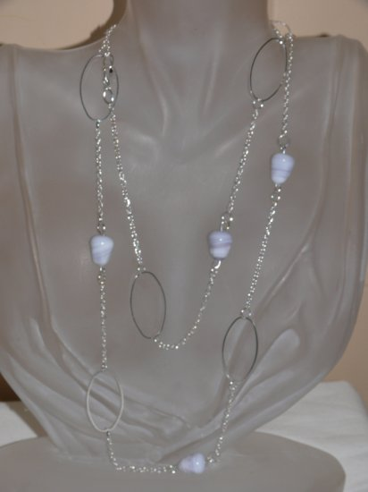 Lavender And Oval Necklace