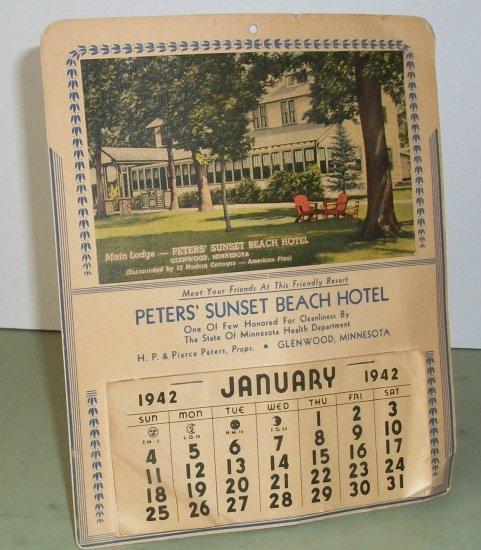 Peter's Sunset Beach Hotel  1942 Calendar