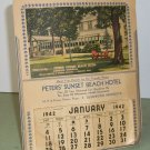 Peter's Sunset Beach Hotel  1942 Calendar