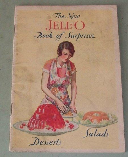Jello  JELL-O Book Of Suprises  Desserts Salads   1930 Recipe Booklet