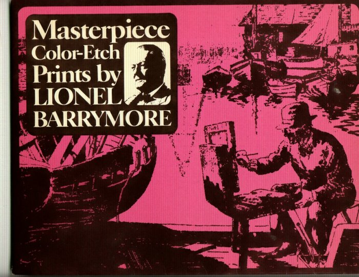 Color-Etch Prints by Lionel Barrymore   8x10 Matted Print