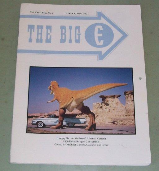The Big E  Edsel Magazine   1992  Calendar    Edsel Photos