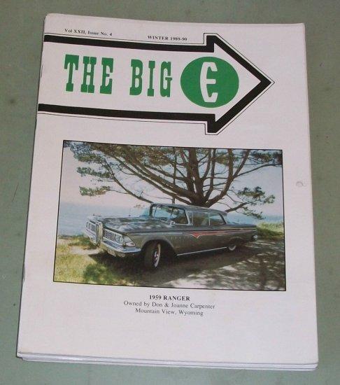 The Big E   Edsel Magazine  1990 Calendar Issue    Edsel Photos