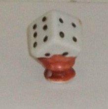 Vintage Ceramic  Dice   Made In Japan