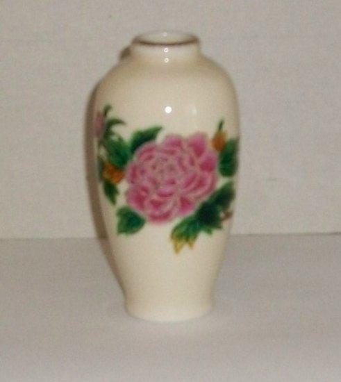 Vintage  Vase  Made In Japan   Roses  Gold Trim