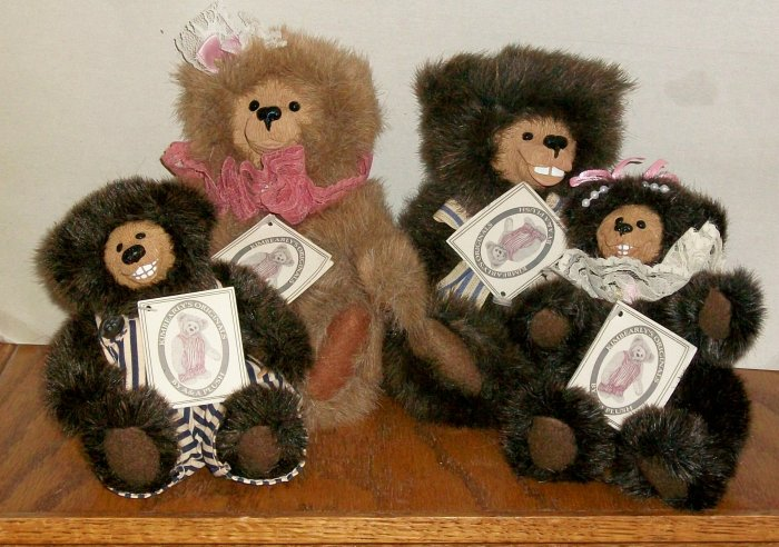 Set Of 4  Kimbearly's Originals by A&A Plush   Teddy Bears