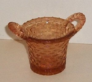 Amber Color Glass Basket