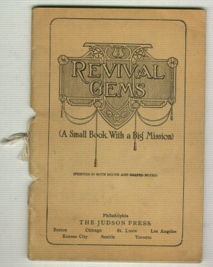 Revival Gems 1921 Music Song Book