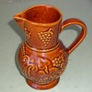 Beautiful Vintage Brown Ceramic Pitcher w/ Handle