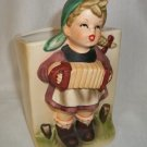 Vintage  Ceramic Girl Playing An Accordion Planter - RELPO 2025 Figurine
