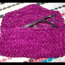 Eyeglass Case, Cozy, Knit in Deep Plum Faux Suede