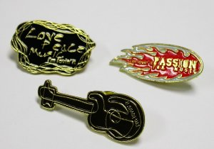 A Complete Set of 2005 McDonald's McDonalds 3 MUSIC PINS